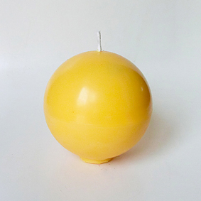 Bougie boule jaune 2