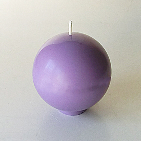 Bougie boule lilas 1