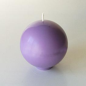 Bougie boule lilas 2