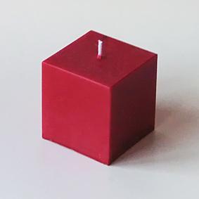 Bougie Cube Carmin