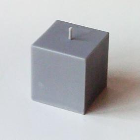Bougie Cube Gris