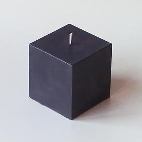 Bougie Cube Noir