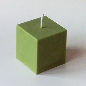 Bougie Cube Olive