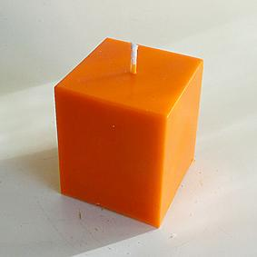 Bougie Cube Orange