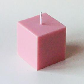 Bougie Cube Rose tendre
