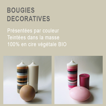 Bougie decoratives 1