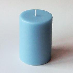 Bougie pilier bleuciel