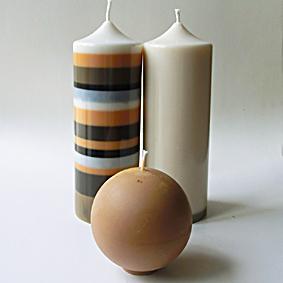Bougies beige 3
