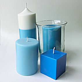 Bougies bleu