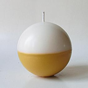 Boule bicolore blanc jaunet 2
