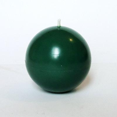 Bougie ronde vert émeraude