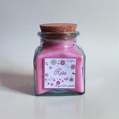 Bougie parfum rose