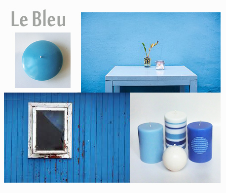 Decoration bleu