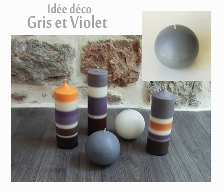 Decoration gris violet