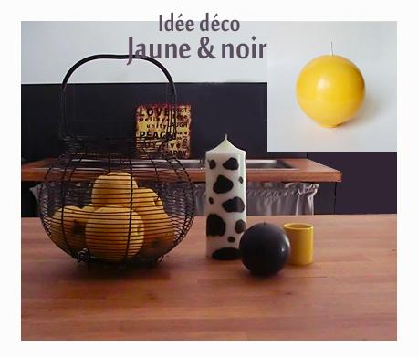 Decoration jaune et noir