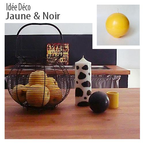 Decoration jaune et noir2