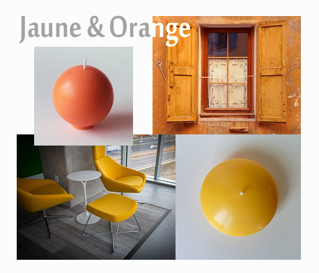 Decoration jaune orange