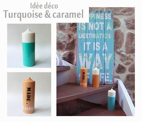 Decoration turquoise caramel