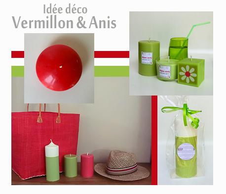 Decoration vermillon anis