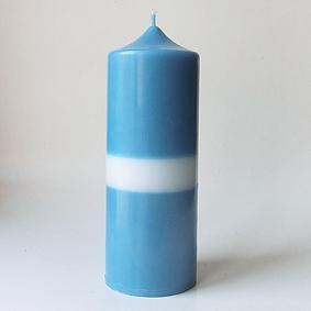 Bicolore bleu/blanc