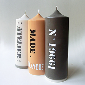"""bougies """"atelier'"""