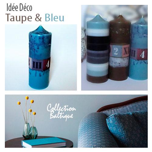 Harmonie du taupe et du bleu
