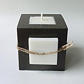 Bougie cube chocolat 2