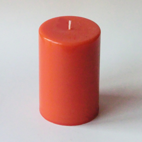 Bougie pilier orange 1