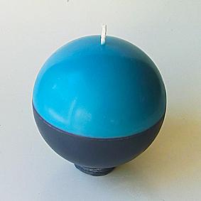 Boule bicolore bleu gris 1