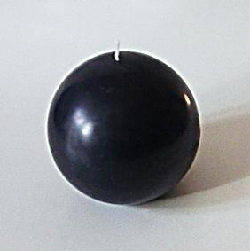 Bougie ronde Noire