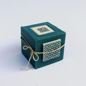 Cube bleu canard 1
