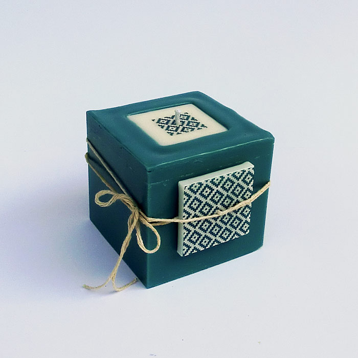 Cube bleu canard 3